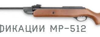 Модификации МР-512